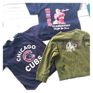 Boys 5-6-7-8 small shirts bundle lot of 3